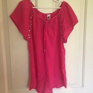 Girls pink blouse